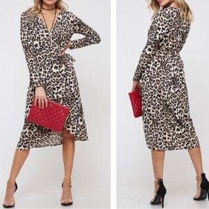 🆕 Leopard Print Wrap Dress
